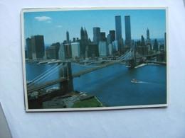 America USA NY New York City Brooklyn Bridge Twin Towers - Brooklyn