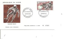 Espace - Cosmonautes - Edward White( FDC Du Niger De 1966 à Voir) - FDC & Commémoratifs