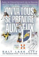 2002 :Jeux Olympiques D'Hiver De Salt Lake City :P.J.Albertville  :carte Officielle - Winter 2002: Salt Lake City