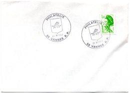 HERALDIQUE = 56 VANNES PHILATELIE 1983 = CACHET  Illustré D' ARMOIRIES - Marcophilie (Lettres)