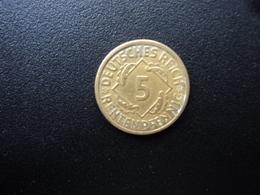 ALLEMAGNE : 5 RENTENPFENNIG   1924 F   KM 32     SUP - [ 3] 1918-1933 : Weimar Republic