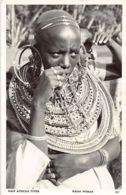 Kenya - Masai Woman, East African Types - REAL PHOTO S. Skulina Pegas Studio 187. - Kenya