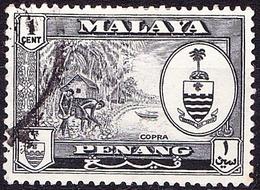 MALAYA PENANG 1960 1c Black SG55 Fine Used - Penang
