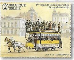 Belg. 2019 - 150 Ans D/l 1ère Ligne De Tram Hippomobile ** - België
