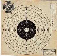 Cible En Carton 14 X 14 -1939 - Documents