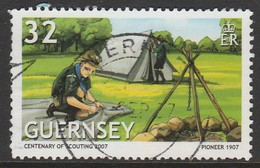 Guernsey  2007 EUROPA Stamps - The 100th Anniversary Of Scouting 32 P Multicoloured SW 1126 O Used - Guernsey