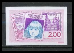 France N°2529 Philex-jeunes 1988 Exposition Philatélique Des Jeunes à Nevers Nièvre Non Dentelé ** MNH (Imperforate) - Non Dentelés