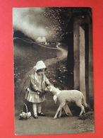 1914 - PASEN - PAQUES - MEISJE MET SCHAAP EN EIEREN - FILLETTE AVEC MOUTON ET OEUFS - Pâques