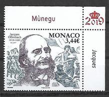 Monaco 2019 - Bicentenaire De La Naissance De Jacques Offenbach ** - Monaco