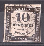 1859 - Timbre-Taxe N° 2A Oblitéré - Taxes