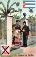 Cuba - El Correo De Cuba - Cartero - Postman - Bandera Cubana - Cuban Flag. - Cuba