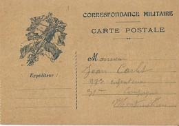 Carte Postale Franchise Militaire Honneur Et Patrie - Postmark Collection (Covers)