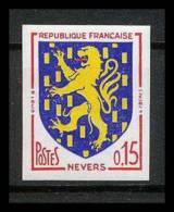 France N°1354 Armoiries De Villes Nevers Nievre Non Dentelé ** MNH (Imperforate) - Non Dentelés