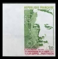 France N°1770 Ducretet Liaison TSF Tour Eiffel Panthéon Non Dentelé ** MNH (Imperforate) - Frankreich