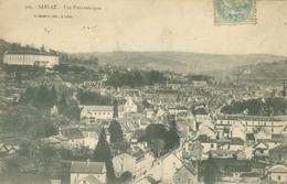 Sarlat La Caneda 1906; Vue Panoramique - Voyagé. (P. Daudrix - Sarlat) - Sarlat La Caneda