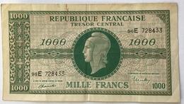 France, 1000 Francs, 1943-1945 Marianne, 1945, TTB, Fayette:VF 13.2 Chiffres Maigres (billets De Banque Banknote - 1943-1945 Marianne