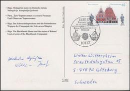 2614 UNESCO Riga, FDC-AK Schwarzhäupterhaus & Rolandstatue, ESSt Berlin - [7] República Federal