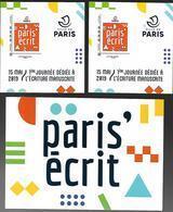 """France 2019 - Mini Collector """"Paris Ecrit"""" (lettre Verte & International) ** - Francia"""