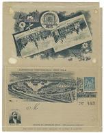 France, Entier Postal, 1894, Carte Lettre Commemorative Timbrée Sur Commande Pour L'expo De Lyon, Numéroté 443/2000 - Entiers Postaux
