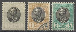 Serbie  1905  Y&T N° 82.90.91  * Et Oblitérés - Serbien