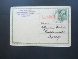 Österreich 1916 Ganzsache Mit Zensurstempel Überprüft. Filiale Der K.K. Priv. Oesterreichischen Credit Anstalt Gablonz - Briefe U. Dokumente