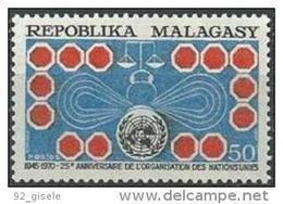 "Madagascar YT 475 "" ONU "" 1970 Neuf** - Madagascar (1960-...)"