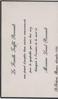 Carton Remerciements Suite à Décès/CANADA/Famille TREFFLE  PERREAULT/Décés De Laval PERREAULT/ST Fréderic/1946   FPD117 - Décès