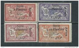 Syrie P. A. N° 22 / 25 X  Timbres De 1925 Avec Surcharge Bilingue : Les 4 Valeurs  Trace De Charnière SinonTB - Poste Aérienne