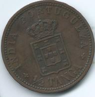 India - Portuguese - 1901 - Carlos I -½ Tanga - KM16 - India