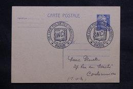 FRANCE - Oblitération De L 'Exposition Philatélique Des Cheminots Sur Entier Postal En 1950 - L 33772 - 1921-1960: Période Moderne
