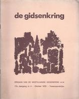 1979/4 DE WESTVLAAMSE GIDSENKRING MANTEN EN KALLE KORTRIJK LETTERKUNDE EN MUZIEK IN VLAANDEREN OP POSTZEGELS STREUVELS, - Geschiedenis