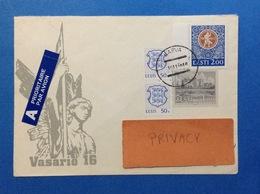1996 ESTONIA EESTI BUSTA POSTAL HISTORY AIR MAIL PRIORITAIRE 4 STAMPS - Estonia