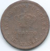 India - Portuguese - 1881 - Luíz I -¼ Tanga - KM308 - India