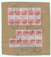1980 - Formose - Taiwan - Chine - Sur Fragment - Y&T N°1240 En Blocs De 10 + 9 - FRANCO DE PORT - 1945-... République De Chine