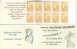 Carnet Privé A.P.C. Chalon Sur Saône 2012 - Carnet à Théme -Compositeur Richard WAGNER - Booklets