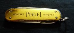 Couteau Publicité - PIAGET Montres - 3 éléments - Knives