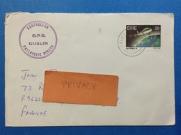 1986 IRLANDA EIRE BUSTA POSTAL HISTORY STAMP AERLINGUS - 1949-... Repubblica D'Irlanda