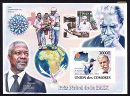 Red Cross - Comores 2001, Prix Nobel De La Paix / Imperfe. - MNH - Prix Nobel
