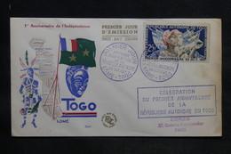 TOGO - Enveloppe FDC 1957 - 1er Anniversaire De L 'Indépendance - L 33782 - Togo (1960-...)
