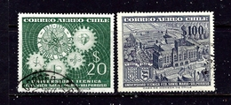 Chile C190-91 Used 1956 Issues - Chile