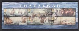 Great Britain 2005 Battle Of Trafalgar Minisheet Used - 1952-.... (Elizabeth II)
