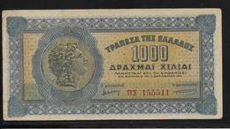 Grèce -  1000 Drachmes - Pick N°117 - TTB - Greece