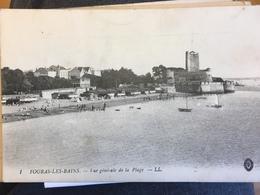 Cpa Fouras Les Bains La Plage 1917 Circulée - Fouras-les-Bains