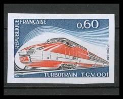 France N°1802 Turbotrain TGV Train 1974 Non Dentelé ** MNH (Imperforate) - Treni