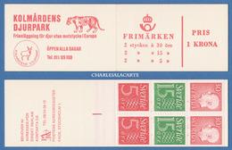 SWEDEN 1966 SLOT-MACHINE BOOKLET GUSTAF VI / NUMERALS ZOO COVER FACIT HA 15 B1 O - 1981-..