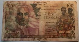 Réunion 1947 100 Francs La Bourdonnais Pick 45 (billet De Banque, Banknote, French Colonies) - Reunion