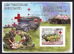 Red Cross / Croix Rouge - Les Vehicules Medicaux, Comores 2008 / Imperf. - MNH - Croix-Rouge
