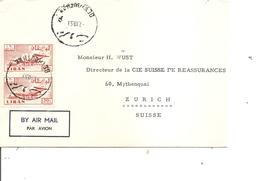 Liban ( Lettre Par Avion De 1959 De Beyrouth Vers La Suisse à Voir) - Lebanon