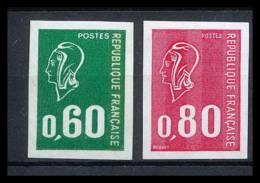 France N°1814 / 1815 Marianne De Bequet Non Dentelé ** MNH (Imperforate) - Francia