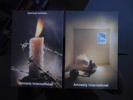 Amnesty International Lot De 2 Cartes Postales - Publicité